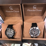 Alexandre Christie Alexandre Christie Asia's Chronograph Three Eyes Rubber Watch Men's Watch 6533 Mcr