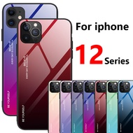 Case for iphone 12 pro cover max mini 5g 2020 iphone12 12pro 12mini iphone12pro  iphone12 12case tempered glass i phone Gradient