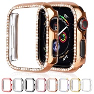 Diamond Bumper Protective Case for Apple Watch 6 5 4 Series 38MM 42MM 40mm 44mm Smart Watch Cover for I Watch 3 2 SE Accessories