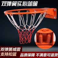 ┅◎卍戶外籃球框實心標準籃框彈簧籃圈樹上電線桿成人兒童免打孔籃框