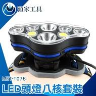 [頭家工具] 夜騎燈 LED頭燈八核 強光頭燈T6COB輕巧型釣魚燈USB充電頭燈 多功能頭戴燈 登山燈 露營燈MET-T076