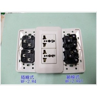 萬寶 Wonpro 單聯2插萬用插座-插線型 WF-2.R4、鎖線式 WF-2.R4T