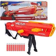 Nerf Thunderhawk AccuStrike Mega Toy Blaster - Longest Rifle Gun - 10 Official AccuStrike Mega Darts, Bipod ปืนเนิร์ฟ