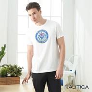 【NAUTICA】學院牛仔風短袖T恤(白色)