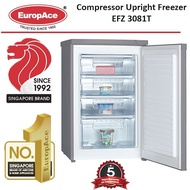 EuropAce 85L Upright Freezer EFZ3081T * READY STOCKS * FAST DELIVERY