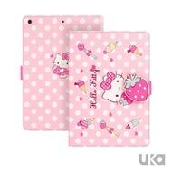 【SANRIO 三麗鷗】iPad Pro 2018 11吋 Kitty系列智能休眠可立式磁扣保護套(草莓凱蒂貓)