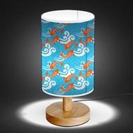 Wood Base 5W LED USB Decoration Desk/Table/Bedside Lamp [ Oriental Elements ]