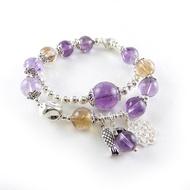 【菲鈮歐】紫黃水晶銀飾手鍊