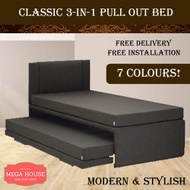 Classic 3-in-1 Pull Out Bed / Foldable Bed / Mattress not Included