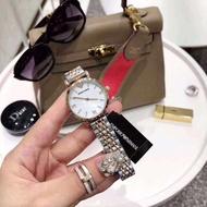 Emporio Armani GIANNI T-B series quartz watch women's exclusive classic series 32mm solid steel belt