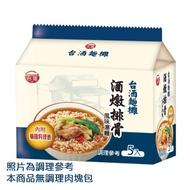 台酒麵攤-酒燉排骨風味湯袋麵(5包入/袋)(效期2021.9.1)