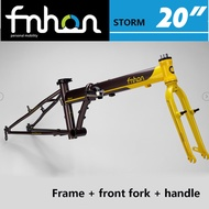 FNHON STORM folding bicycle disc version 20-inch frame version, P8 SP18 chrome molybdenum steel frame bicycle parts, including bicycle front fork and bicycle front wheel