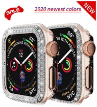 Diamond Bumper Protective Case for Apple Watch Cover Series 5 4 3 2 1 38MM 42MM Cases For I watch 5 4 40mm 44mm watch band strap