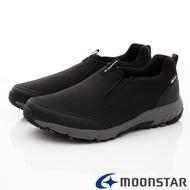 日本月星Moonstar機能男鞋戶外多功能系列4E寬楦防水透濕健走鞋款046黑(男段)