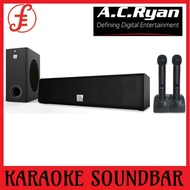 AC RYAN MOMENT (GEN2) WIRELESS KARAOKE SOUNDBAR + WIRELESS MICS SUBWOOFER.