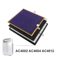 Original OEM,AC4121+AC4123+AC4124 filters kit for Philips AC4002 AC4004 AC4012 Air purifier parts HA