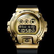【CASIO 卡西歐】G-SHOCK DW-6900 25周年金屬手錶(GM-6900G-9)