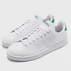 adidas 休閒鞋 Advantage 復古 男鞋 F36424 26.5cm WHITE/GREEN
