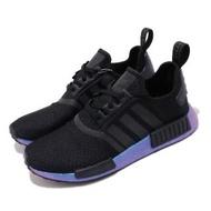 【adidas 愛迪達】休閒鞋 NMD_R1 襪套式 男鞋 愛迪達 反光 流行款 Boost底 緩震 黑 藍(FV3645)