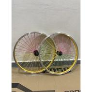 Rim Alloy Basikal 20inch bicycle wheel 20inch colourful BMX/MTB/LAJAK
