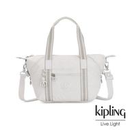 【KIPLING】探索亮銀灰手提側背包-ART MINI