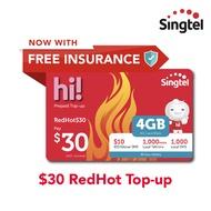 Singtel $30 RedHot Top-up