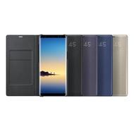 SAMSUNG Galaxy Note8 LED 原廠皮革翻頁式皮套(盒裝)黑色