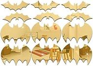 ZYL-YL Decor Wall Stickers Creative Halloween Bat Mirror Sticker, Eco-Friendly Children's Room Decoration Mirror Wall Sticker