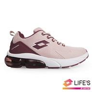 LOTTO樂得-義大利第一品牌 女款VOLARE RUN 氣墊跑鞋 [1003] 藕粉【巷子屋】