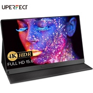 UPERFECT 4K  Monitor 15.6 inch Gaming Display Portable USB C Monitor 3840 x 2160 Ultra HD with Stand Smart Shell Eye Protection Screen IPS Speaker OTG VESA Suitable for HDMI Type-C Mini DP PD Xbox Rpi Win PC M ac