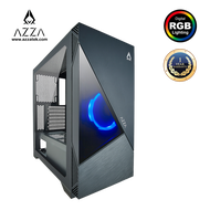 AZZA ATX Mid Tower Tempered Glass ARGB Gaming Case ECLIPSE 440 - Black
