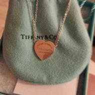 Tiffany純銀+玫瑰金項鍊