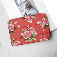 iPad 12.9/Air4/iPad 8/mini 5系列 初戀粉玫瑰皮革平板保護套