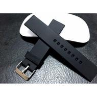 168錶帶配件~黑色silicone 20mm 22mm 全平面直身矽膠錶帶,diesel ck DW