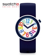 Swatch Pop Swatch POPNUMBER PNW107 White Silicone Reversible Strap Watch