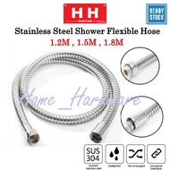SUS 304 Stainless Steel Flexible Shower Hose Shower Flexible Hose For Bidet(1.2meter, 1.5meter, 1.8meter ) ~Home Hardwar
