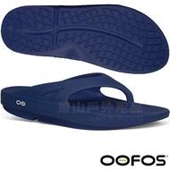 #OOFOS  M1000-NVY  男 釋壓夾腳拖鞋 -深藍
