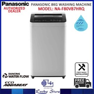 PANASONIC NA-F80VB7HRQ 8KG TOP LOAD WASHING MACHINE, FREE DELIVERY AND INSTALLATION