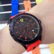 新款 Ferrari 法拉利 男款三針眼運動防水石英手錶 (免運費)
