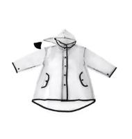 เสื้อปอนโชกันฝนแบบใส transparent raincoat