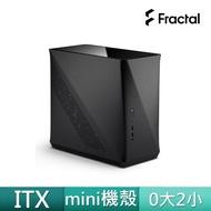 【Fractal Design】Era ITX 北歐風 迷你ITX機殼-石墨黑(瑞典精品/GPU-29cm/CPU-12cm)
