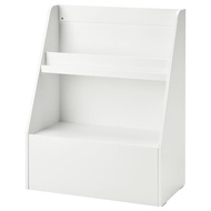 Childrens cabinet / bookcase for books and games - Wood - White