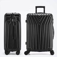 กระเป๋าเดินทาง สำหรับเก็บสัมภาระ น้ำหนักเบา วัสดุ ABS+PC กระเป๋าเดินทางแฟชั่น ขนาด 24นิ้ว (มีสินค้าพร้อมส่ง)