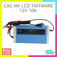 CAS AKI MOBIL MOTOR LCD 12V 10A CHARGER TAFFWARE / cas aki basah / cas aki kering / charger aki kendaraan 12  volt output -  / charger aki 10 ampere watt / charger aki kering / carger aki mobil motor cas / cas aki motor / cas aki otomatis