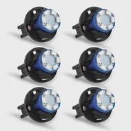 6ชุดรถAuto 12V 0.2W T10 6 LED 1210 SMDแผงDashหลอดไฟสีฟ้าผู้ถือ
