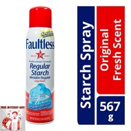 [Shop Malaysia] Faultless Regular Starch Spray Original Finish Ironing Starch Spray Fresh Scent Easy On Iron From USA+Free Mystery Gift🎊