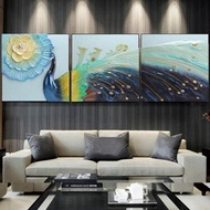 客廳掛畫沙發背景墻畫3D浮雕畫歐式立體裝飾畫現代大氣墻壁畫孔雀   伊卡萊生活館