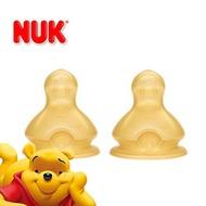 德國【NUK】寬口徑乳膠奶嘴2入 - 0-6M / 6M以上(小圓洞/中圓洞/十字孔) - 德國原裝 / 德國版