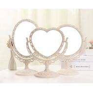 歐風高清水晶公主鏡 臺式化妝鏡 雙面 辦公宿舍桌面美容鏡 梳妝鏡 結婚閨密聖誕 彩妝 禮物