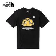 【The North Face】休閒帳篷印花 男款 短袖T恤 黑色